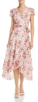 Betsey Johnson Rose-Print Wrap Dress