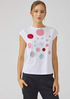 Emporio Armani T-Shirt With Loading Effect Print