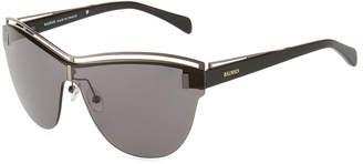 Balmain Rimless Round Acetate/Metal Sunglasses