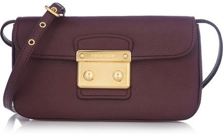 Miu Miu Madras leather clutch