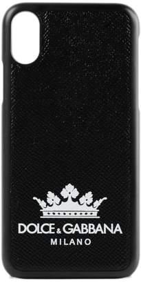 Dolce & Gabbana Crown Print Iphone X Case