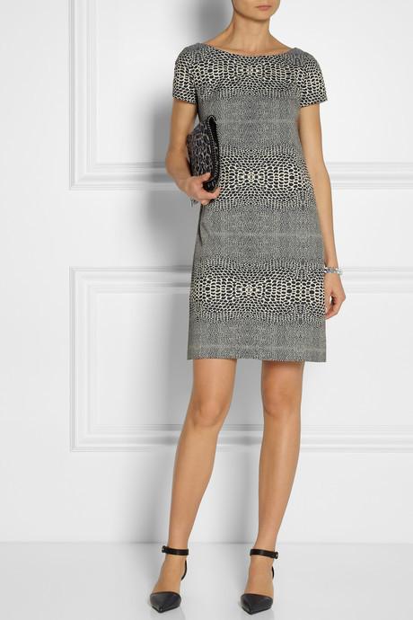 Issa Snake-jacquard dress