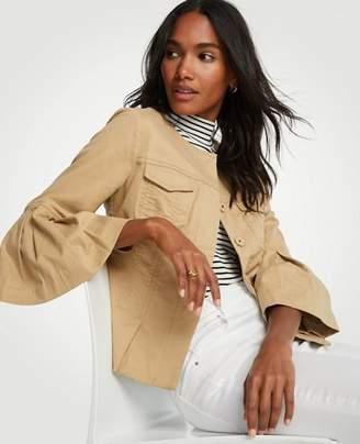 Ann Taylor Tall Twill Flounce Sleeve Jacket