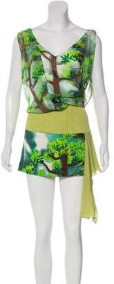 Tracy Reese Silk Layered Mini Dress