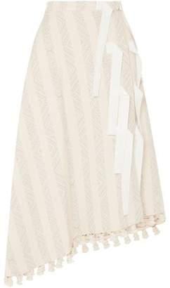Altuzarra Basilica Tasseled Cotton-Blend Jacquard Midi Skirt