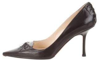 Jimmy Choo Leather Pointed-Toe Pumps