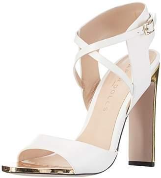 Paper Dolls Women 304151 Open Toe Sandals White Size: 5 UK