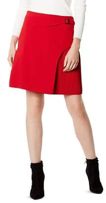 Karen Millen Overlay Detail Pleated Skirt - 100% Exclusive