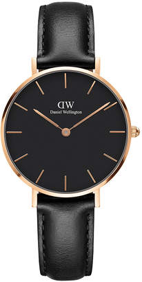 Daniel Wellington DW00100168 32mm Classic Petite Rose Gold Sheffield Black Dial Watch