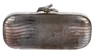 Diane von Furstenberg Metallic Embossed Lytton Clutch