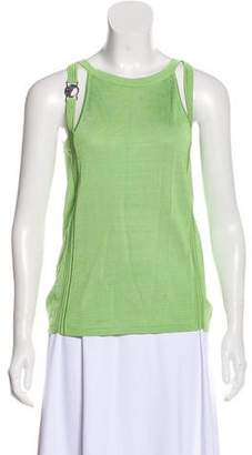 Versace Cutout Sleeveless Top