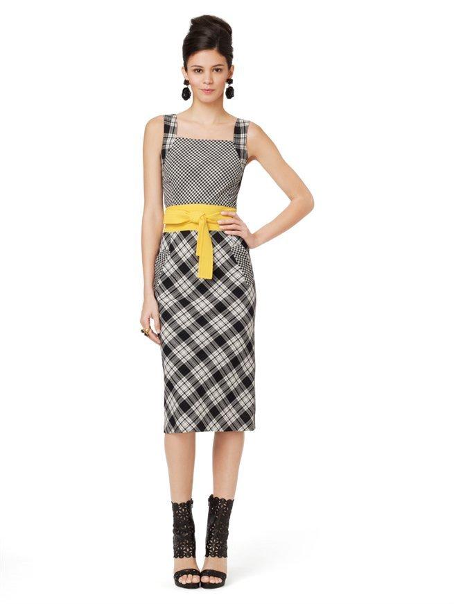 Oscar de la Renta Sleeveless Slim Dress With Waistband Detail