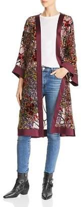 Band of Gypsies Lonnie Floral Burnout Velvet Kimono