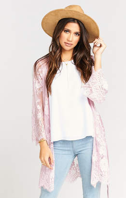 Show Me Your Mumu Lilah Lace Robe ~ Dusty Pink