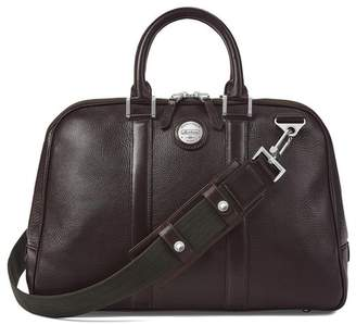 Aspinal of London Aerodrome 24 Hour Mission Bag In Dark Brown Pebble