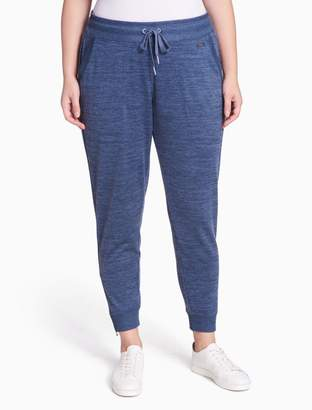 Calvin Klein plus size performance heathered fleece zip joggers