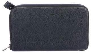 Delvaux Textured Leather Wallet