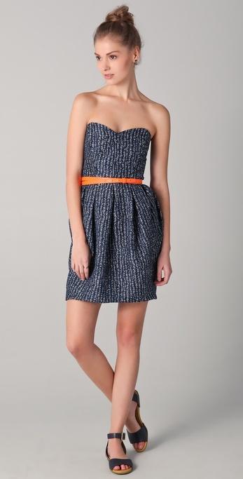 Shoshanna Jane Strapless Tweed Dress