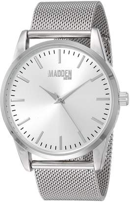 Steve Madden Men's Quartz Metal and Stainless Steel Casual Watch, Color:-Toned (Model: SMMW002)