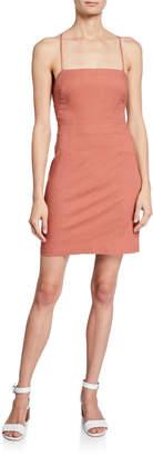 Astr Mari Lace-Up Back Dress