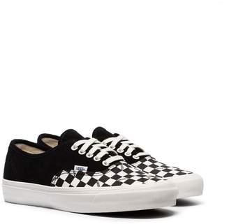 c74995d017 Vans black OG Authentic check print suede low-top sneakers