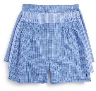Men's Polo Ralph Lauren 3-Pack Woven Cotton Boxers $39.50 thestylecure.com