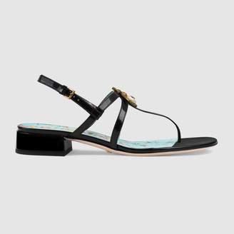 Gucci Patent leather sandal with bee