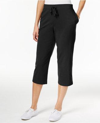 Karen Scott Pull-On Knit Capri Pants, Created for Macy's $17.98 thestylecure.com
