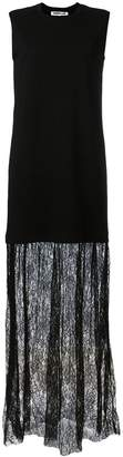 McQ lace trim maxi dress