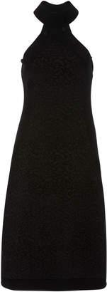 Brandon Maxwell Leo Caplet Intarsia Dress