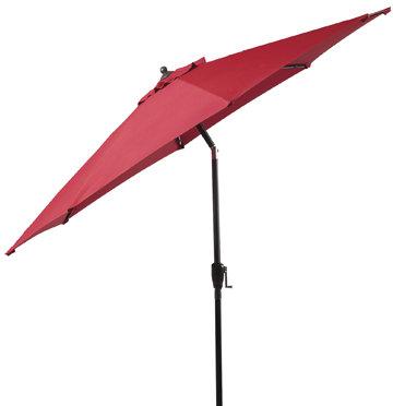 9-Foot Round Jockey Red Sunbrella Market Umbrella