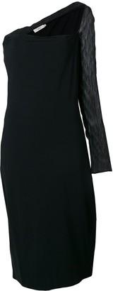 Romeo Gigli Pre-Owned sheer single sleeve dress