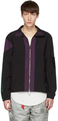 Pyer Moss Black and Purple Classic Track Jacket