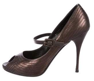 Valentino Metallic Mary Jane Pumps