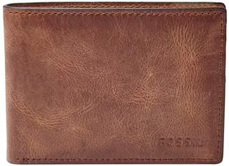 Fossil 'Derrick' Leather Front Pocket Bifold Wallet