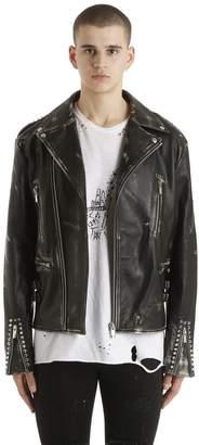 Corium Vintage Leather Biker Jacket