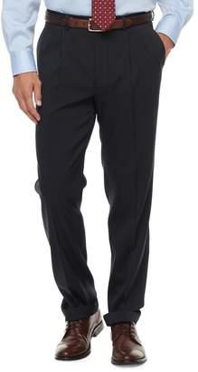 Chaps Men's Classic-Fit Performance Pleated Dress Pants