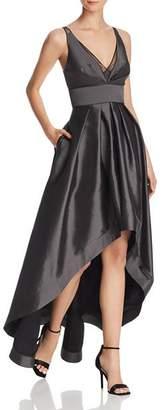 Aidan Mattox High/Low Taffeta Gown - 100% Exclusive
