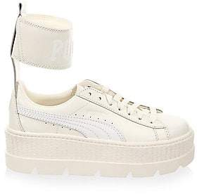 b637c9528c3d Puma Women s FENTY Leather Ankle-Strap Sneakers