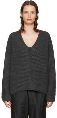 Acne Studios Grey Deborah V-Neck Sweater