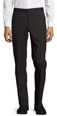 Santorelli Brushed Straight-Leg Dress Pants