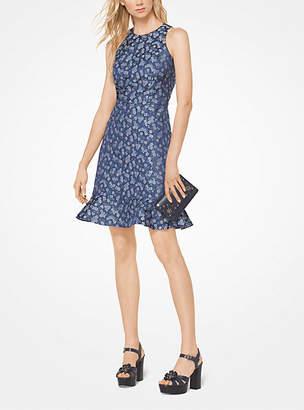 Michael Kors Floral Twill Jacquard Dress