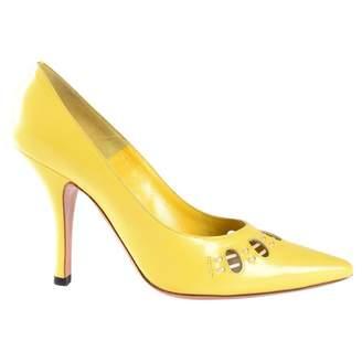Marc Jacobs Yellow Leather Heels