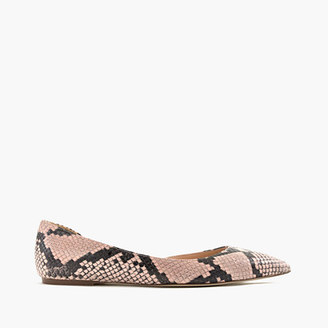 Audrey flats in snakeskin-printed leather $148 thestylecure.com