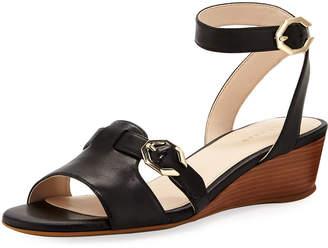 Cole Haan Terrin C-Buckle Low-Wedge Sandals