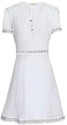MICHAEL Michael Kors Embellished Open-Knit Mini Dress