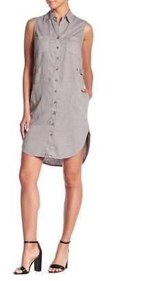 Level 99 Linen Blended Sleeveless Shirt Dress