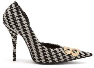 Balenciaga Houndstooth Bb Pumps - Womens - Black White