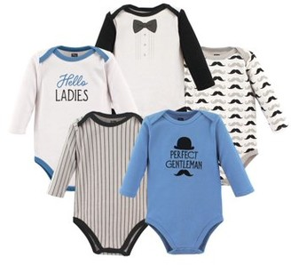Hudson Baby Boy Long Sleeve Bodysuits, 5-pack
