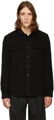 Noah NYC SSENSE Exclusive Black Wool Teddy Shirt $395 thestylecure.com
